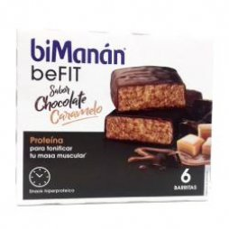 Bimanan beFIT Chocolate/Caramelo 6 Barritas