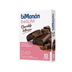 Bimanan beSLIM Chocolate intenso 10 Barritas
