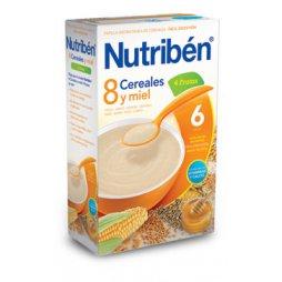 Nutriben Papilla 8 Cereales Miel y 4 Frutas 600g