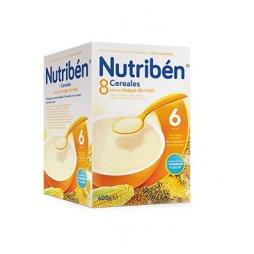 Nutriben Papilla 8 Cereales Miel 600g