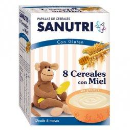 Sanutri  Papilla 8 Cereales / Miel 600g