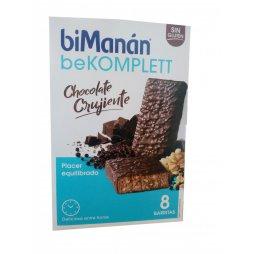 Bimanan beKomplett Barritas Chocolate Crujiente 8uds