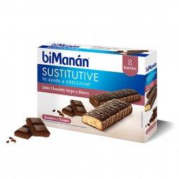 Bimanan Barritas Chocolate Negro/Blanco 8uds