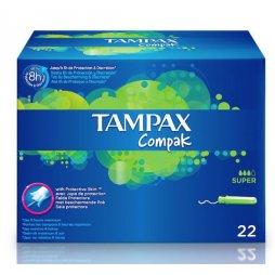 Tampax Compak Super 22uds