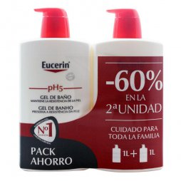 Eucerin Pack Gel Baño 2X1000ml 60% 2ªud