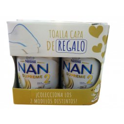 Nestle Nan 2 Supreme 2x800gr + toalla capa regalo
