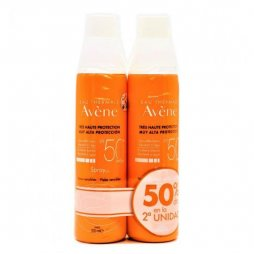 Avene Spray SPF50 200ml 2ud 50%