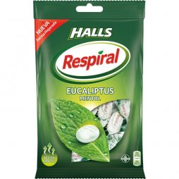 Halls Respiral Bolsa Eucaliptus Mentol 150gr