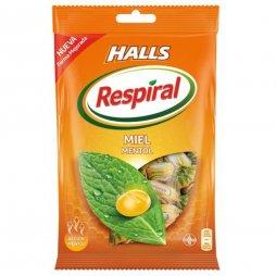 Halls Respiral Bolsa Miel Mentol 150gr