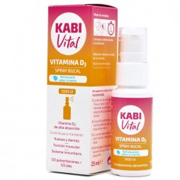 Kabi Vitamina D3 Spray Bucal 25ml Sabor Menta