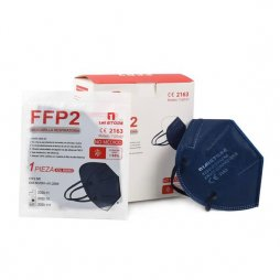 Mascarilla FFP2 Color Azul Marino 20 ud