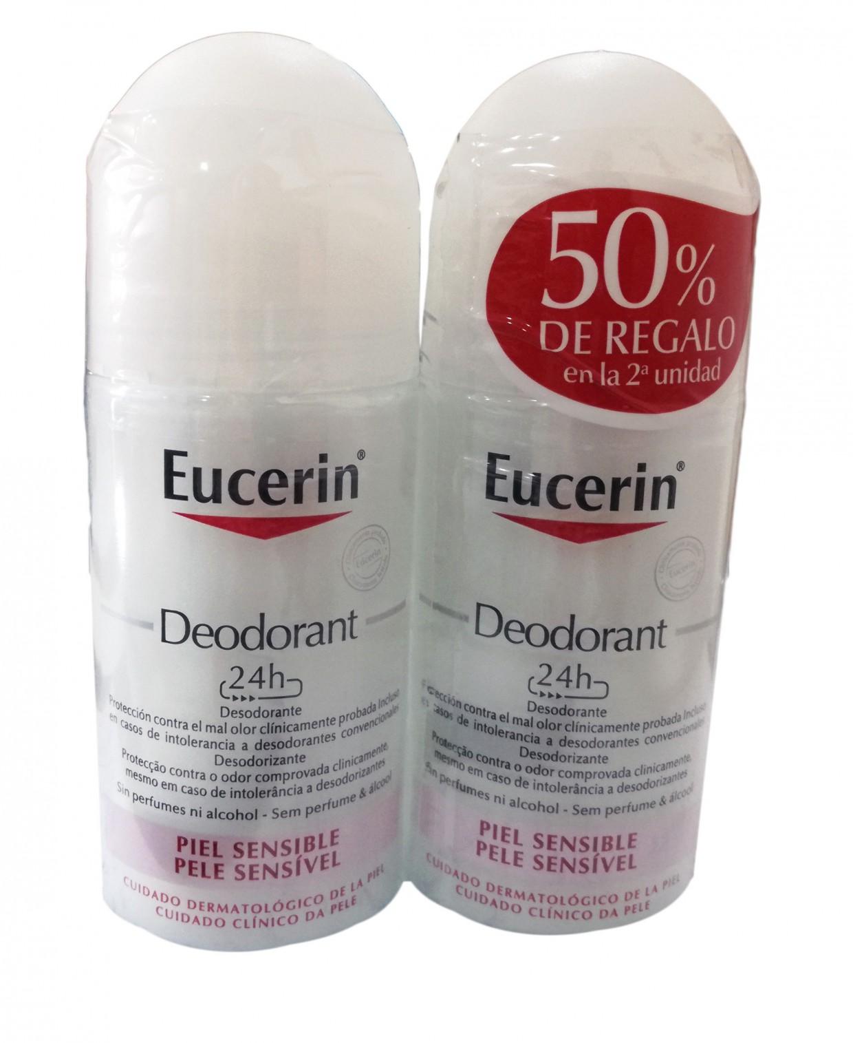 Eucerin Desodorante Roll-On Duplo Piel Sensible